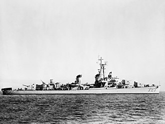 USS Walke (DD-723) - USS Walke off Korea, 1952–53.