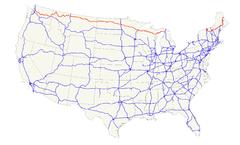 US Route Wikipedia Wolna Encyklopedia - Us route 2 map