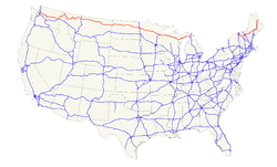 Karte des U.S. Highways 2