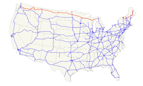 US Route Wikipedia - Us route 2 map
