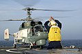 US Navy 040607-N-1823S-308 A Russian KA-27 Helix helicopter makes a successful safe landing on the guided missile cruiser USS San Jacinto's (CG 56)040607-N-1823S-308.jpg