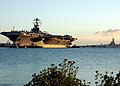 US Navy 040722-N-3019M-004 Tugboats help the Nimitz-class aircraft carrier USS John C. Stennis (CVN 74) moor as it arrives in Pearl Harbor after participating in RIMPAC 2004.jpg