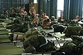 US Navy 050613-N-8252B-089 Participants of Talisman Sabre 2005, set-up their cots upon arrival at Camp Rocky in Queensland, Australia.jpg