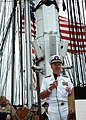 US Navy 060610-N-5322S-004 Commander, U.S. 2nd Fleet, Vice Adm. Mark Fitzgerald, addresses the crowd on USS Constitution's Military Appreciation Day turnaround cruise.jpg