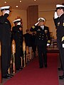 US Navy 080111-N-1841C-061 Capt. Brian McIlvaine salutes the sideboys as he departs the change of command ceremony for USS Georgia (SSGN 729) at the base chapel.jpg