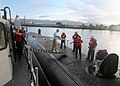 US Navy 081114-N-9426B-001 The crew of the Los Angeles-class attack submarine USS Chicago (SSN 721) welcomes aboard visiting members of the 721 Club.jpg