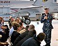 US Navy 090401-N-9712C-001 Master Chief Petty Officer of the Navy (MCPON) Rick West speaks with Sailors at Naval Air Station Joint Reserve Base New Orleans.jpg