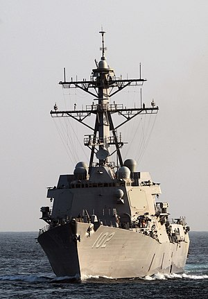 US Navy 091112-N-3038W-221 USS Sampson (DDG 102) cruises into position for a replenishment at sea.jpg
