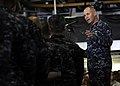 US Navy 100420-N-7948R-090 Vice Adm. Richard H. Hunt, commander of U.S. 3rd Fleet, speaks to Sailors and Marines during an all-hands call aboard the amphibious assault ship USS Peleliu (LHA 5).jpg