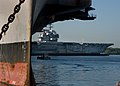 US Navy 100618-N-1251W-029 The decommissioned aircraft carrier Ex-USS Forrestal (AVT 59) arrives at Naval Support Activity Philadelphia from Naval Station Newport, R.I.jpg