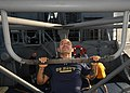 US Navy 110218-N-9793B-043 Engineman 1st Class Kevin L. Kibbe does pull-ups on the outdoor gym aboard the guided-missile cruiser USS Anzio (CG 68).jpg