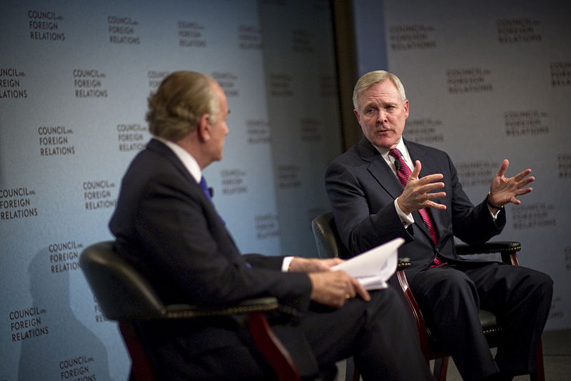 File:US Navy 110328-N-UH963-059 Secretary of the Navy (SECNAV) the Honorable Ray Mabus speaks before the Council on Foreign Relations.jpg