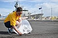US Navy 110622-N-WP746-017 Information Systems Technician 2nd Class Crystal Flanary participate in the base cleanup along the pier at Joint Base Pe.jpg