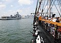 US Navy 110704-N-SH953-641 USS Constitution passes the amphibious dock landing ship USS Oak Hill (LSD 51) during the ship's July 4th underway as pa.jpg