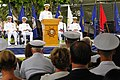 US Navy 110729-N-ZW825-102 Vice Adm. Richard W. Hunt speaks at the Maritime Expeditionary Security Group (MESG) 1 change of command and retirement.jpg