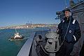 US Navy 111128-N-DU438-155 Quartermaster Seaman William Broerman stands a bearing watch aboard the guided-missile cruiser USS Gettysburg (CG 64) as.jpg