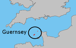 Location of Guernsey