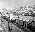 Ukrajna, Rahó 1939, Főutca, háttérben a katolikus templom. Fortepan 16098.jpg