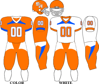 Sam Houston State Bearkats football - Image: Uniform SHSU