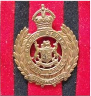 South African Army Engineer Formation - Union Defence Force World War 2 era Engineer Corps Cap badge