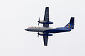 United Airways Bombardier Dash 8-102A S2-AES Flying Over My Rooftop (8201883193).jpg