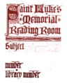 University of the South St. Luke's bookplate.png