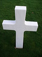 Unknown soldier grave in Normandy American Cemetery and Memorial