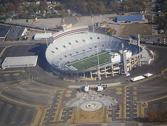 Liberty Bowl Memorial Stadium - The Liberty Bowl Memorial Stadium as seen from above.