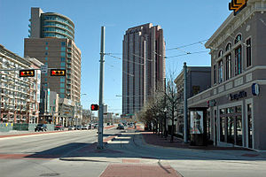 Uptown, Dallas - Looking east along Blackburn Street in Uptown