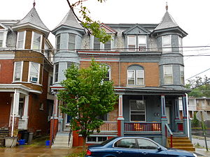 Old Uptown Historic District (Harrisburg) - House on Green Street