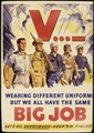 V... - Wearing different uniforms but we all have the same big job. Let's go everybody - Keep `em firing. - NARA - 534899.tif
