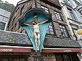 VERVIERS Crucifix contigu au café de la Bourse - rue Xhavée 2 (1-2013) P1060710.JPG