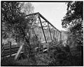 VIEW OF BRIDGE FROM NORTH - Huffman Bridge, Spanning Catawba River, Morganton, Burke County, NC HAER NC,12-MORG.V,1-1.tif