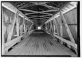VIEW OF INTERIOR FROM NORTH. - West Union Bridge, Spanning Sugar Creek, CR 525W, West Union, Parke County, IN HAER IN-105-13.tif