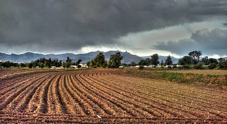 Mezquital Valley - Farmland near the town of Actopan in the Valley