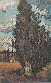 Van Gogh - Zypressen und zwei Frauen.jpeg