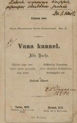 Jakob Hurt: Vana kannel / Alte Harfe