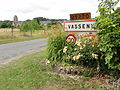 Vasseny (Aisne) city limit sign.JPG