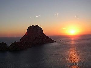 Es Vedrà - Image: Vedra Sonneuntergang