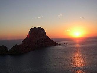 Sant Josep de sa Talaia - Es Vedrà located off Cala d'Hort