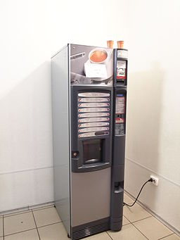 Vending machine coffee.