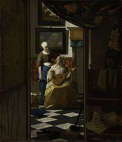 the love letter vermeer フェルメールの作品 11078 | 250px Vermeer%2C Johannes The Loveletter