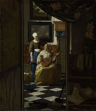 Love letter - The Love Letter by Johannes Vermeer.