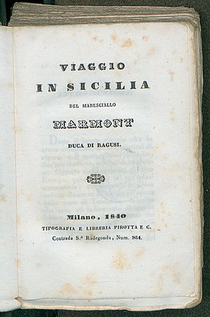 Auguste de Marmont - Viaggio in Sicilia, 1840