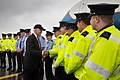 Vice President Joe Biden shakes hands with local law enforcement before boarding Air Force Two.jpg