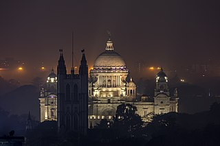 Victoria Memorial Kolkata at night.jpg