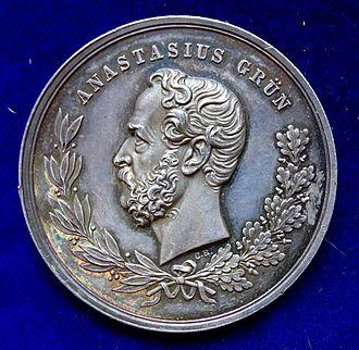 Count Anton Alexander von Auersperg - Image: Vienna, Alexander von Auersperg Silver Medal 1876, obverse