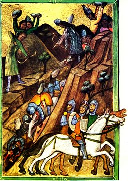 The Battle of Posada in the Chronicon Pictum Viennese Illuminated Chronicle Posada.jpg