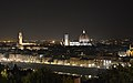 View from Piazzale Michelangelo (Florence) night.JPG