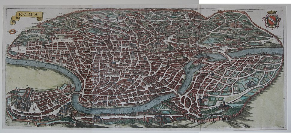 View of Rome Roma 1688 stitched